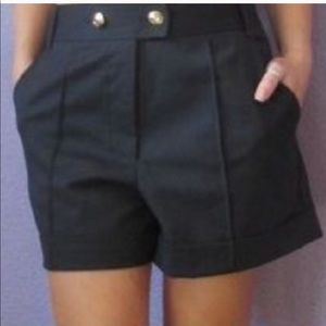 Rebecca Taylor Navy Anchor Button Shorts 8